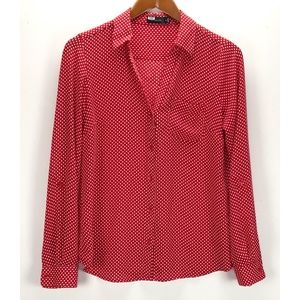 The Limited Button Tab Sleeve Blouse Career